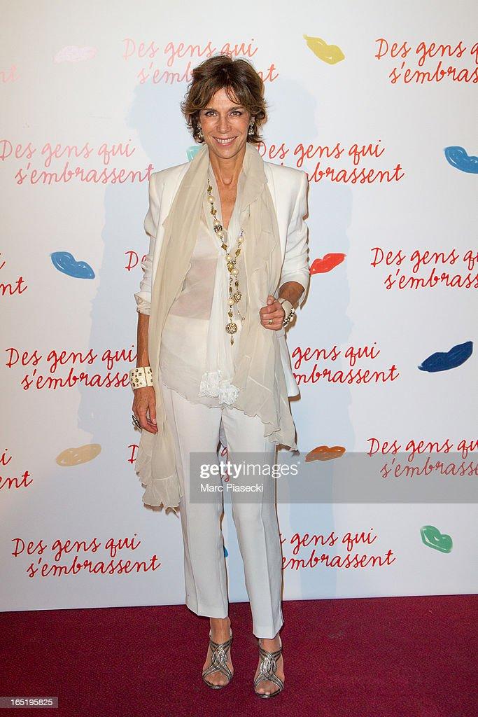 Christine Orban attends the 'Des Gens Qui S'embrassent' Premiere at Cinema Gaumont Marignan on April 1, 2013 in Paris, France.