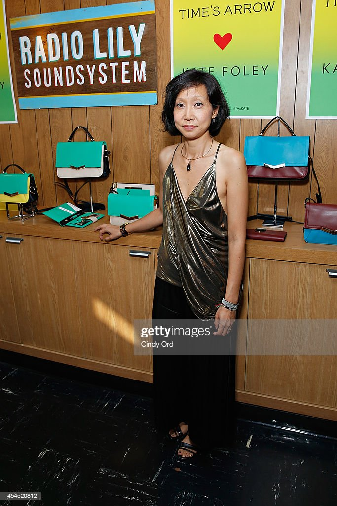 Christine Park, Time's Arrow creative director of luxe leather accessories attends the Time's Arrow + Kate Foley Presentation during Mercedes-Benz Fashion Week Spring 2015 at Miss Lily's on September 2, 2014 in New York City.