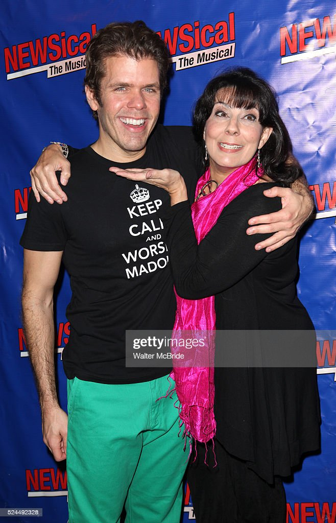 Christine Pedi Perez Hilton attending the Opening Night Performance of Perez Hilton in 'NEWSical The Musical' at the Kirk Theatre in New York City on...
