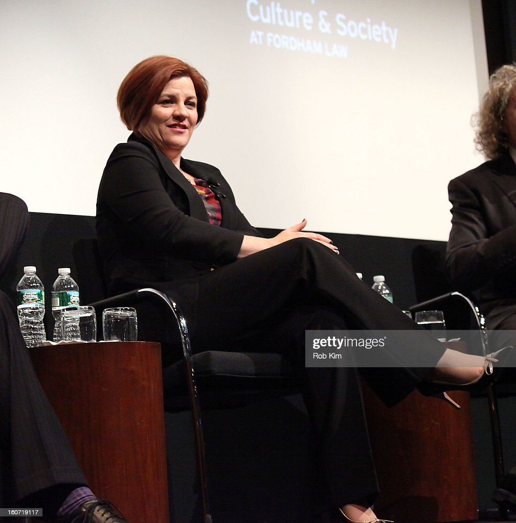 <a gi-track='captionPersonalityLinkClicked' href=/galleries/search?phrase=Christine+Quinn&family=editorial&specificpeople=550180 ng-click='$event.stopPropagation()'>Christine Quinn</a> attends Same-Sex Marriage: Law & Culture Panel Discussion at Time Warner Screening Room on February 4, 2013 in New York City.