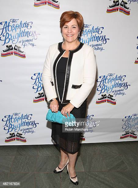 Christine Quinn attends 'The Absolute Brightness Of Leonard Pelkey' Off Broadway Opening Night at The Westside Theatre on July 27 2015 in New York...
