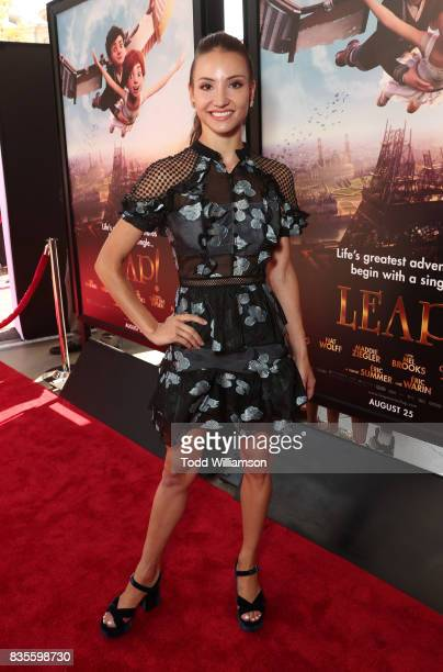 Christine Shevchenko attends the premiere Of The Weinstein Company's 'Leap' at Pacific Theatres at The Grove on August 19 2017 in Los Angeles...