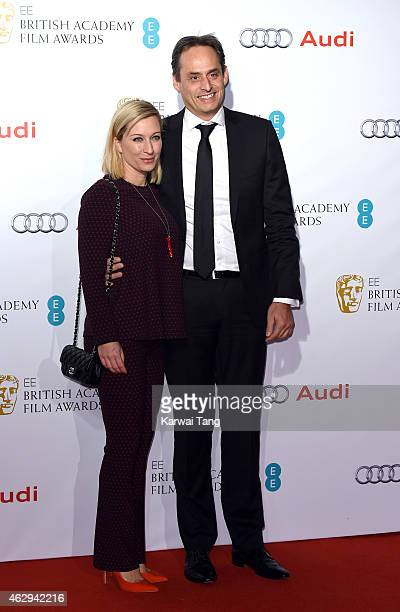 Christine Sieg and Andre Konsbruck attend the EE British Academy Awards nominees party at Kensington Palace on February 7 2015 in London England