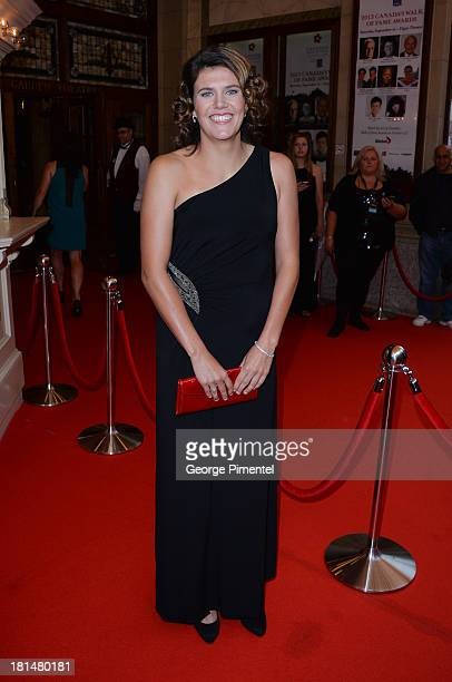 Christine Sinclair attends Canada's Walk Of Fame Ceremony at The Elgin on September 21 2013 in Toronto Canada
