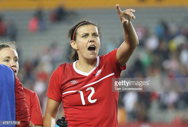 Christine Sinclair of Canada after their victory against England during their Women's International Friendly match on May 29 2015 at Tim Hortons...