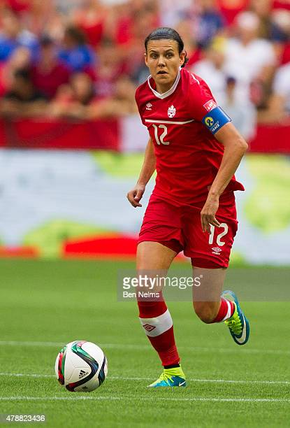 Christine Sinclair of Canada plays the ball during the FIFA Women's World Cup Canada 2015 Quarter Final match between England and Canada June 27 2015...