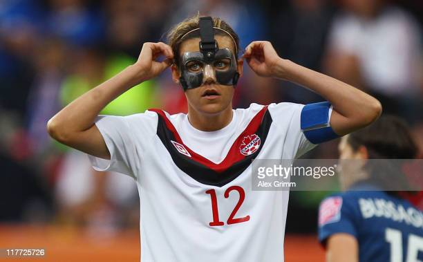 Christine Sinclair of Canada reacts during the FIFA Women's World Cup 2011 Group A match between Canada and France at the Fifa Womens World Cup...