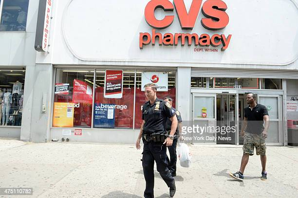 Christine Spitzbarth tried to shoplift from a Brooklyn CVS store at 2152 86th Street then slammed into the automatic doors and was caught by cops...