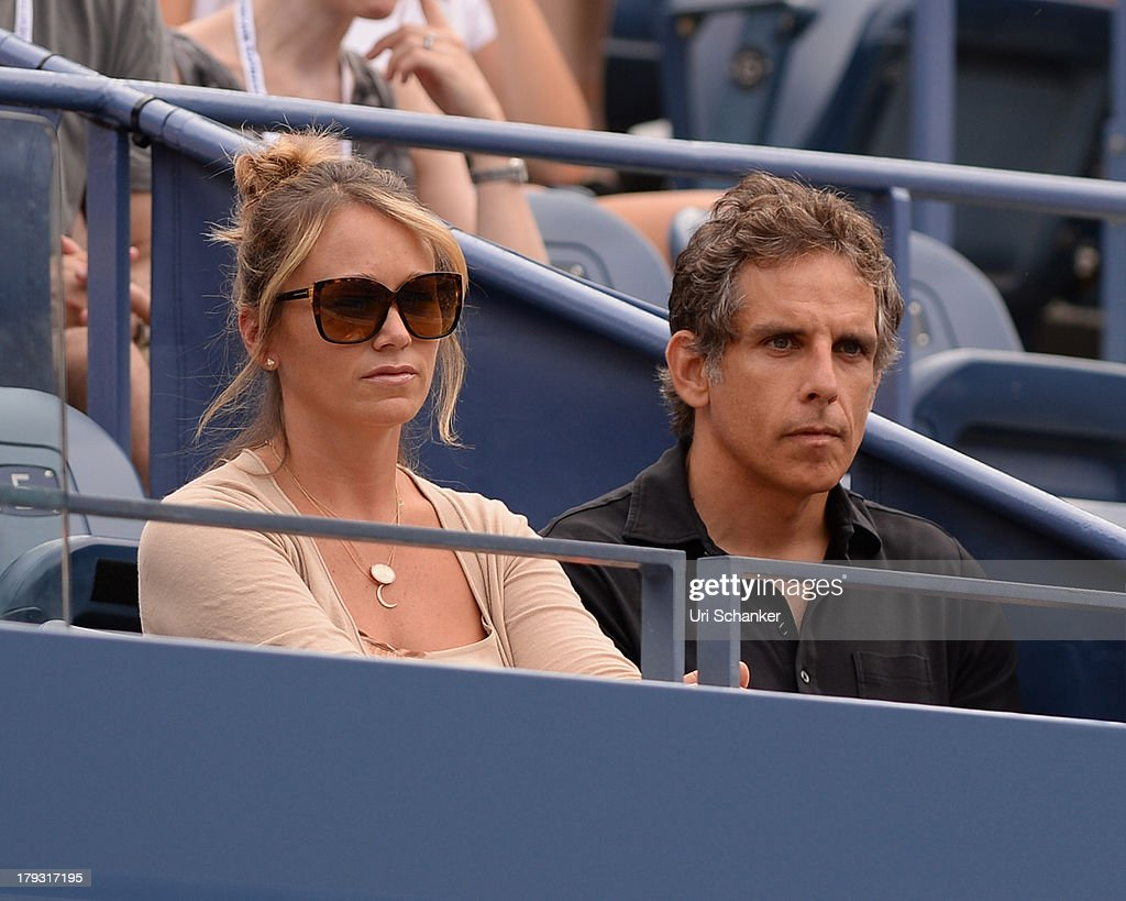 Christine Taylor and Ben Stiller attend the 2013 US Open at USTA Billie Jean King National Tennis Center on September 1, 2013 in New York City.