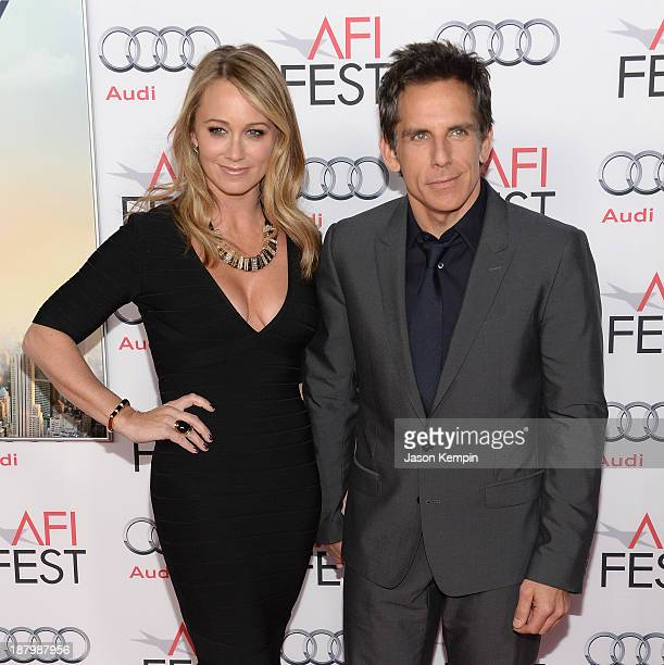 Christine Taylor and Ben Stiller attend the AFI FEST 2013 Presented By Audi Premiere Of 'The Secret Life of Walter Mitty' at TCL Chinese Theatre on...