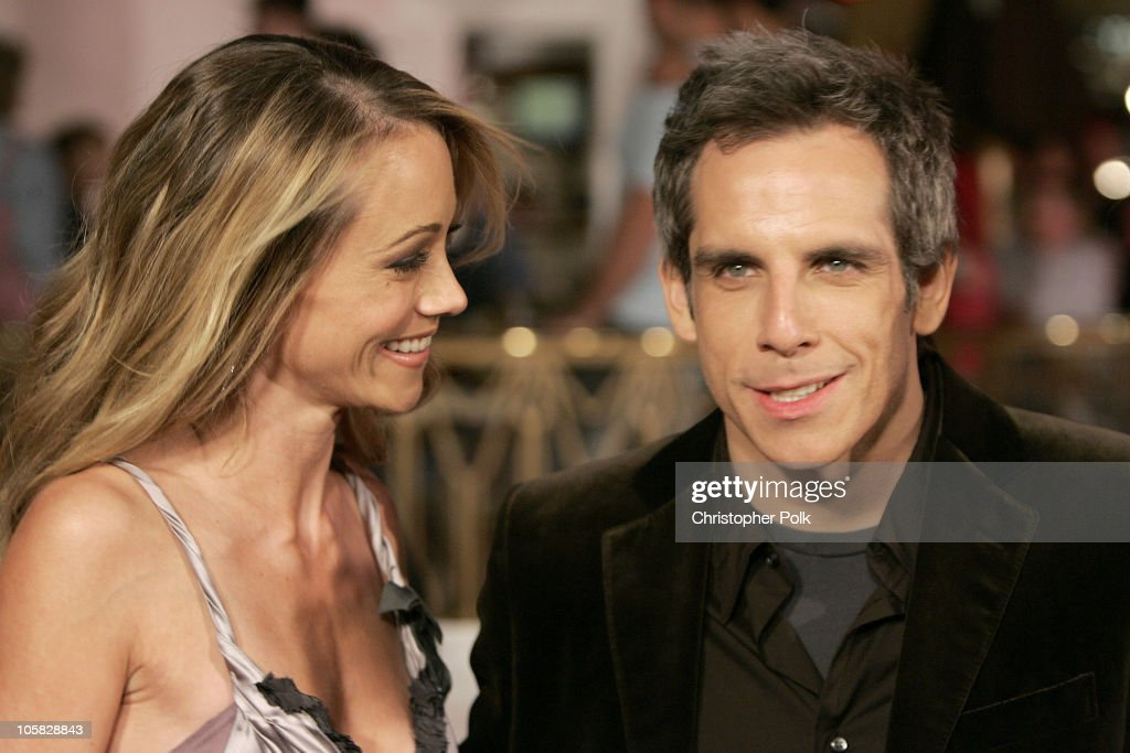 Christine Taylor and Ben Stiller during 'Meet the Fockers' Los Angeles Premiere at Universal Amphitheatre in Universal City, California, United States.