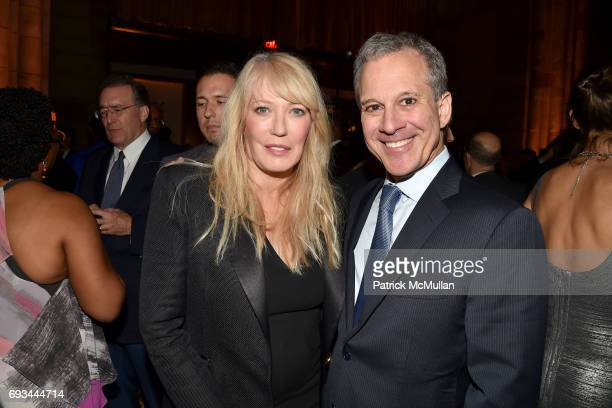 Christine Taylor and Eric Schneiderman attend the Gordon Parks Foundation Awards Dinner Auction at Cipriani 42nd Street on June 6 2017 in New York...