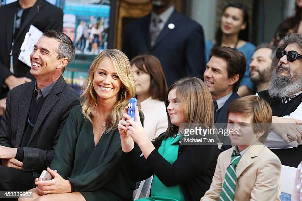 Christine Taylor and her children attend the hand and footprint ceremony honoring Ben Stiller held at TCL Chinese Theatre on December 3 2013 in...