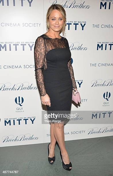 Christine Taylor attends the 20th Century Fox with The Cinema Society Brooks Brothers screening of 'The Secret Life Of Walter Mitty' at Museum of...