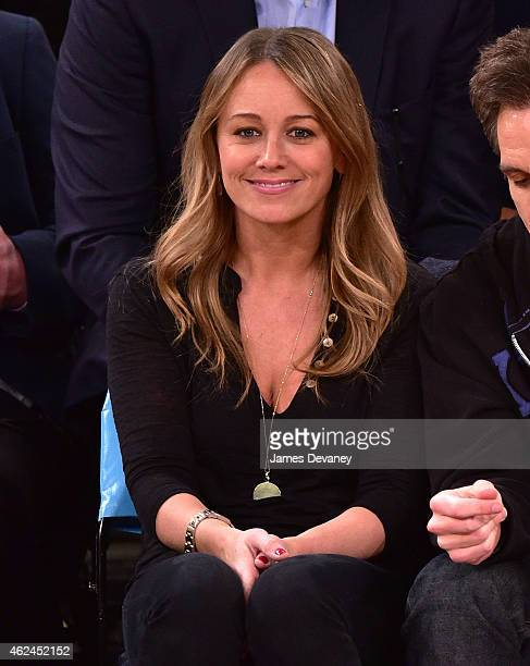 Christine Taylor attends the Oklahoma City Thunder vs New York Knicks game at Madison Square Garden on January 28 2015 in New York City