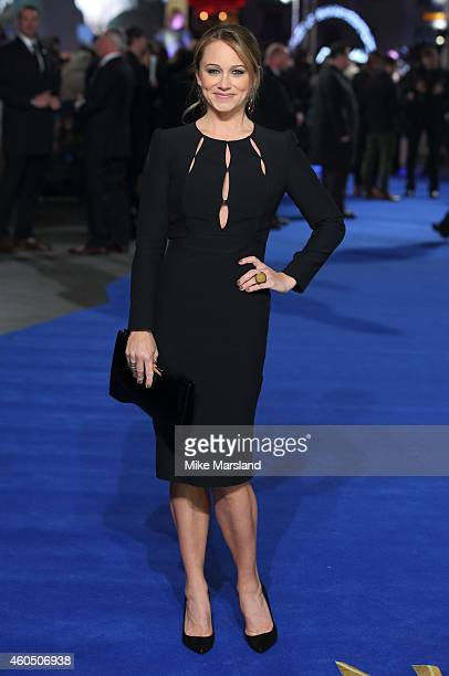 Christine Taylor attends the UK Premiere of 'Night At The Museum Secret Of The Tomb' at Empire Leicester Square on December 15 2014 in London England