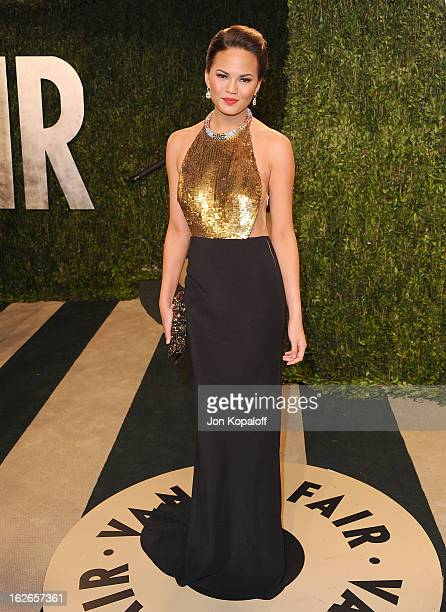 Christine Teigen attends the 2013 Vanity Fair Oscar party at Sunset Tower on February 24 2013 in West Hollywood California