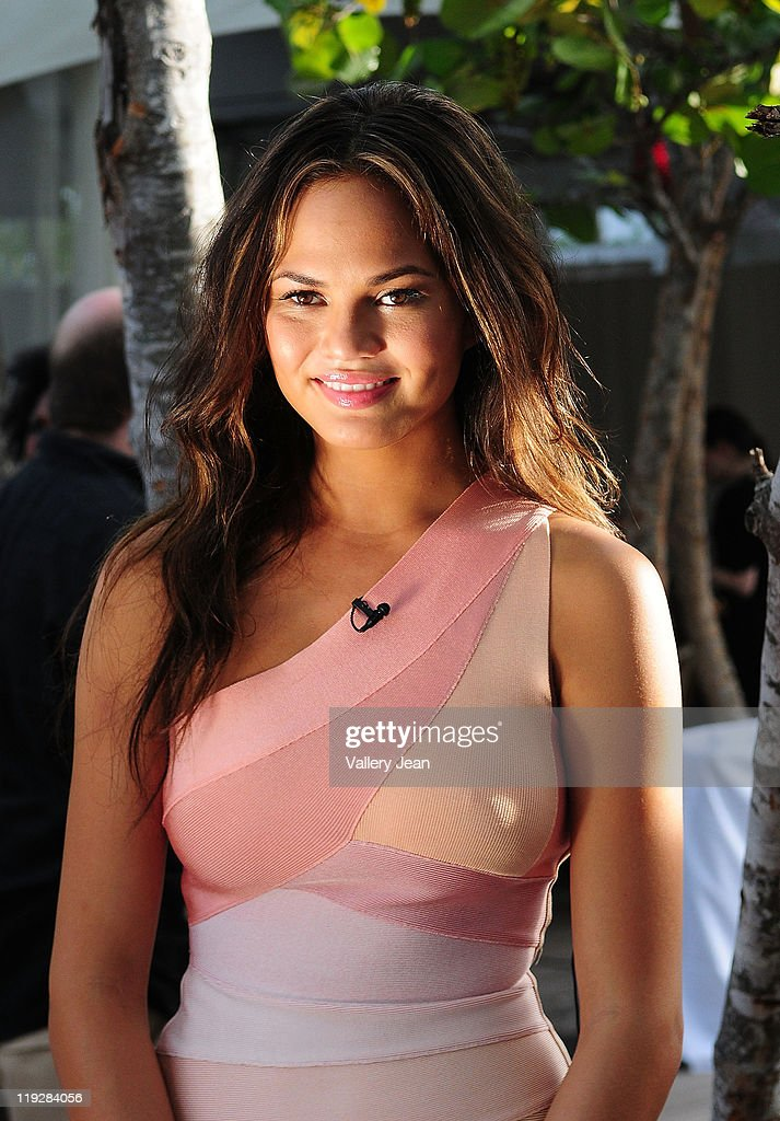 Christine Teigen during Mercedes-Benz Swim 2012 at Raleigh Hotel on July 15, 2011 in Miami Beach, Florida.