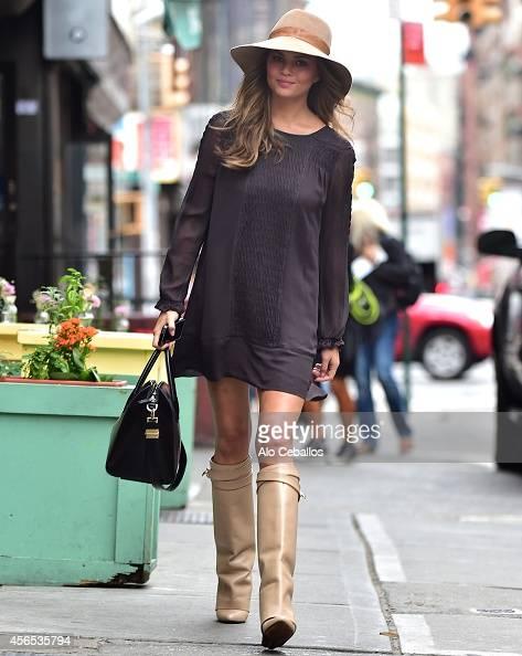 Christine Teigen is seen in Soho on October 2 2014 in New York City