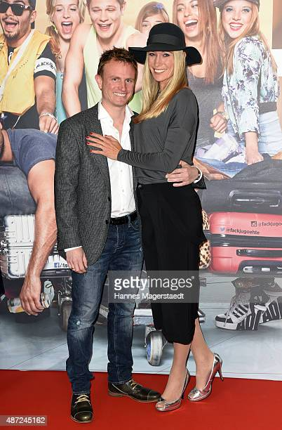 Christine Theiss and her husband Hans Theiss attend the 'Fack ju Goehte 2' Munich Premiere at Mathaeser Filmpalast on September 7 2015 in Munich...