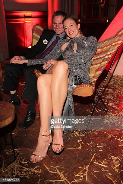 Christine Theiss and husband Hans Theiss attend the Dresswestern party at Rilano No 6 on February 22 2014 in Munich Germany