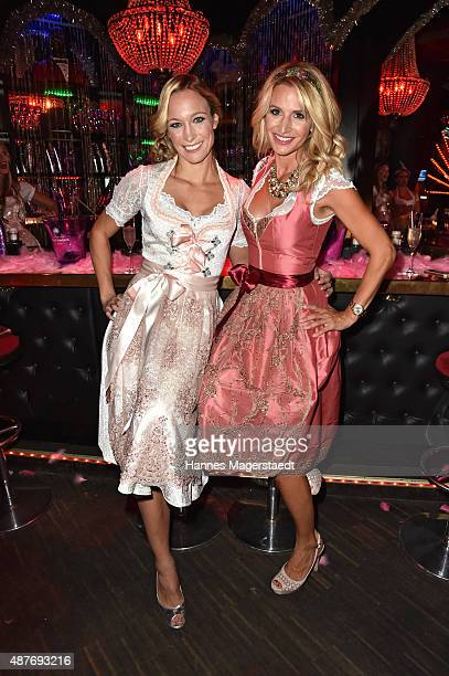 Christine Theiss and Sandra Abt during the dress burlesque party by Dresscodedcom at Paradiso on September 10 2015 in Munich Germany