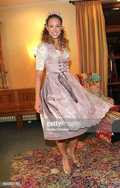 Christine Theiss attends the Dresscoded Hippie Wiesn 2014 at Golfclub Gut Thailing on August 28 2014 in Steinhoering near Ebersberg Germany