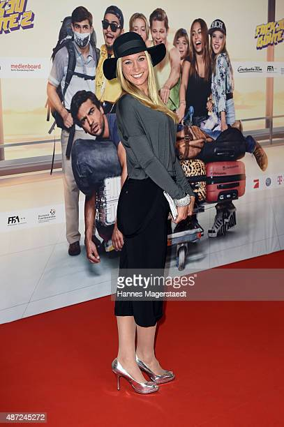 Christine Theiss attends the 'Fack ju Goehte 2' Munich Premiere at Mathaeser Filmpalast on September 7 2015 in Munich Germany