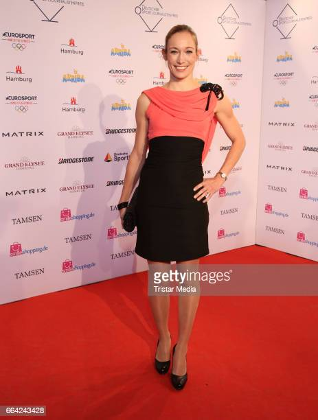 Christine Theiss attends the German Sports Journalism Award 2017 at Grand Elysee Hotel on April 03 2017 in Hamburg Germany