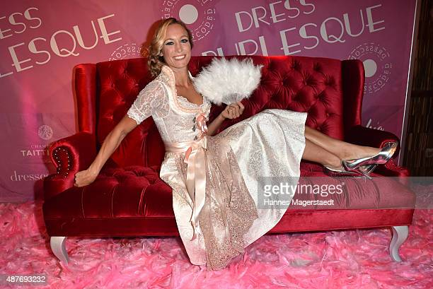 Christine Theiss during the dress burlesque party by Dresscodedcom at Paradiso on September 10 2015 in Munich Germany