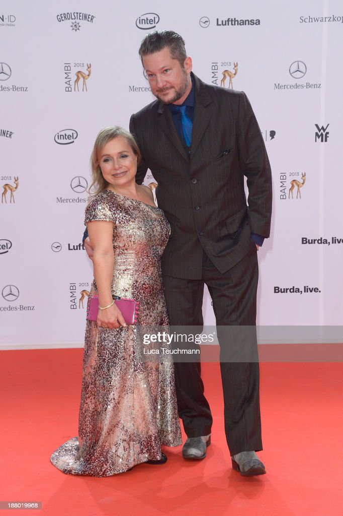 Christine Urspruch and Tobias Materna attend the Bambi Awards 2013 at Stage Theater on November 14, 2013 in Berlin, Germany.