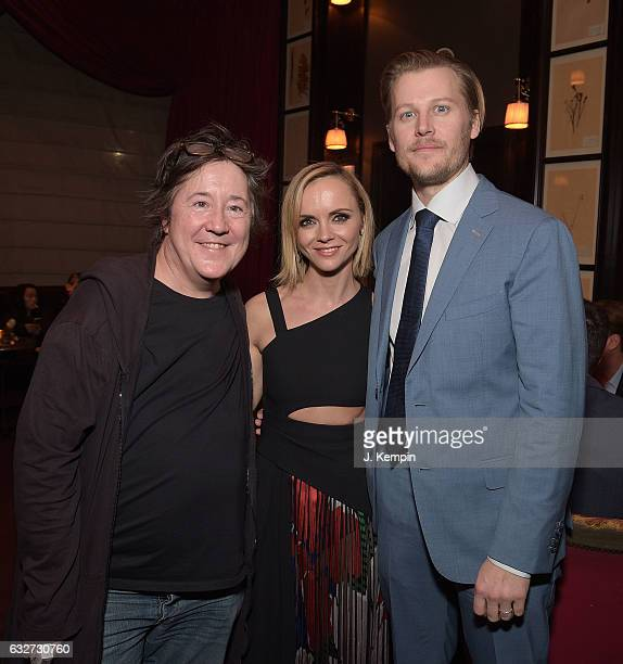 Christine Vachon Christina Ricci and David Hoflin attend the afterparty for Amazon's New Series 'Z The Beginning Of Everything' Premiere at The NoMad...