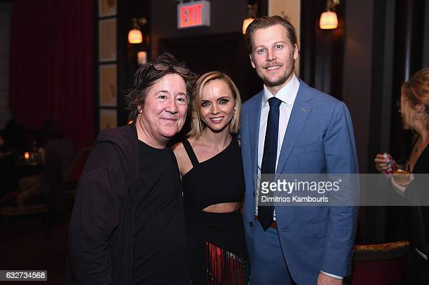 Christine Vachon Christina Ricci and David Hoflin attend the premiere event for Amazon Prime Video's Z THE BEGINNING OF EVERYTHING on January 25 2017...