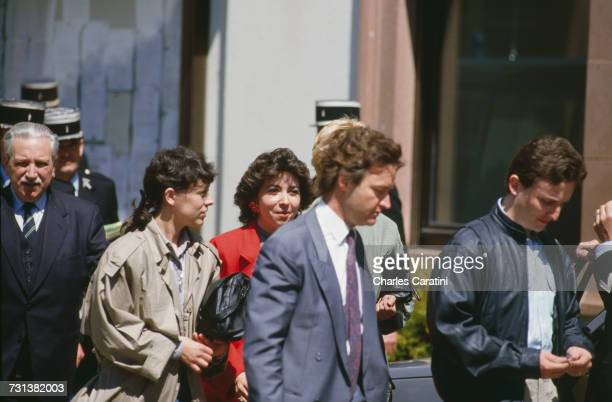 Christine Villemin JeanMarie Villemin and other members of the family of murdered four yearold Grégory Villemin leaving the town hall in Gerardmer in...