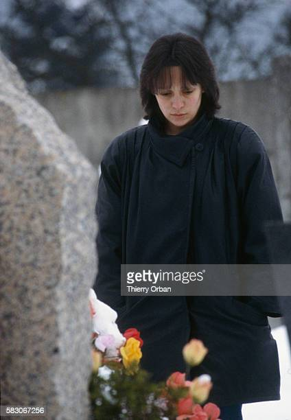Christine Villemin visits the grave of her son Gregory Villemin He was found dead on October 16 1984 in the Vologne River