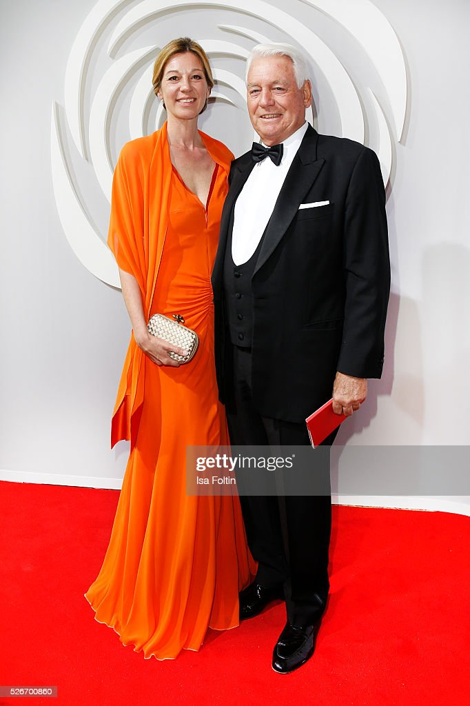 Christine Woessner and Mark Woessner attend the Rosenball 2016 on April 30, 2016 in Berlin, Germany.