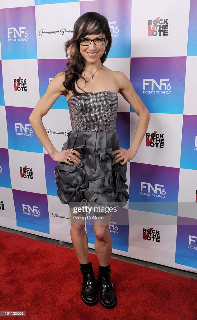 Christine Wu arrives at The Grammy Awards: Friends 'N' Family party at Paramount Studios on February 8, 2013 in Hollywood, California.