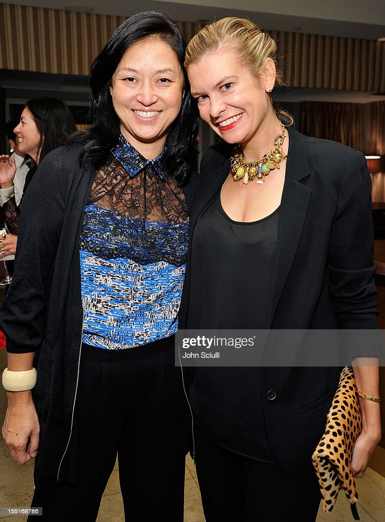 Christine Y Kim and Alexandra Kimball attend a dinner hosted by Ali Larter celebrating the Devi Kroell Spring Summer 2013 Collection at Sunset Tower on November 1, 2012 in West Hollywood, California.