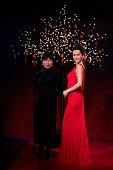 Christine Yau unveils the new Li Bing Bing wax figure at Madame Tussauds on January 29 2015 in London England