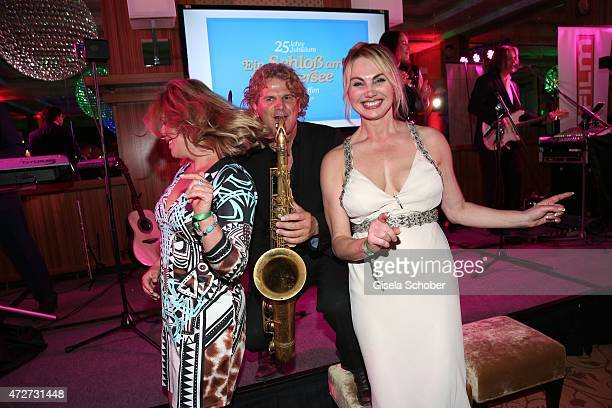 Christine Zierl Karin Thaler dance during the 'Ein Schloss am Woerthersee' 25th anniversary gala on May 8 2015 in Velden Austria