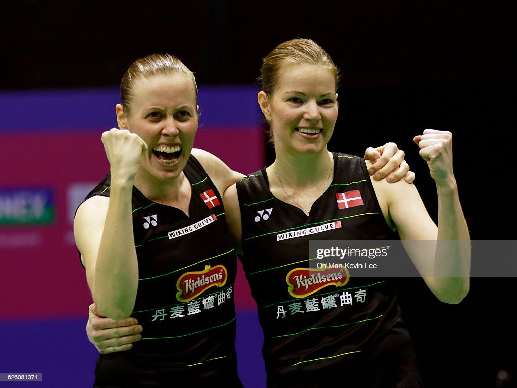 Danish badminton players Christinna Pedersen L and Kamilla