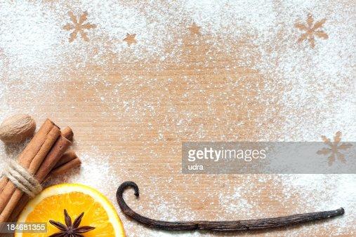 Weihnachten abstrakt Essen Hintergrund auf Schneidebrett : Stock-Foto