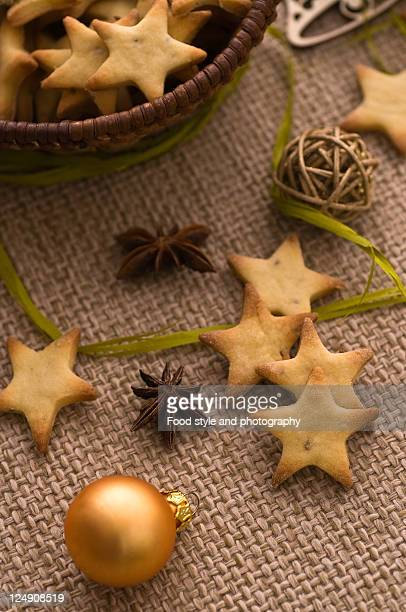 Christmas anise star cookies
