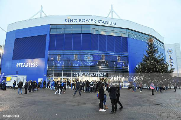 Christmas arrives at King Power Stadium ahead of the Barclays Premier League match between Leicester City and Manchester United at the King Power...