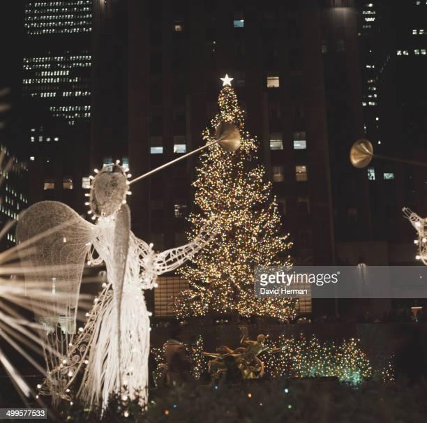 Christmas at the Rockefeller Center in New York City USA circa 1970