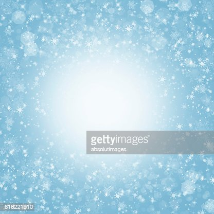 Christmas backdrop with ice crystal : Stock Photo