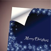 christmas background concept wallpaper with paper corner curl