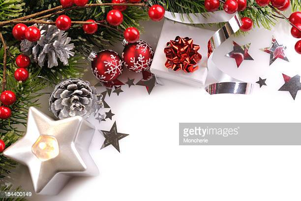 Christmas background in red,green and silver