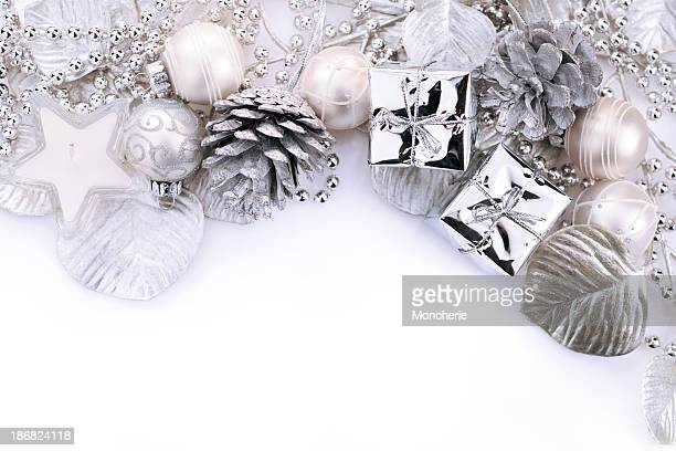 Weihnachten Hintergrund in Weiß und Silber
