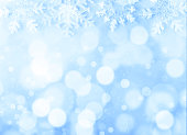 Christmas background on blue background and bokeh
